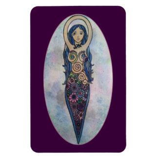 Iman Diosa espiral floral azul