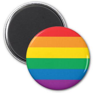 Imán Diseño colorido del arco iris del orgullo el |