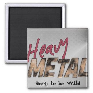 Imán Diseño metálico de metales pesados