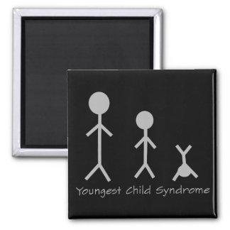 Imán divertido del síndrome del niño más joven