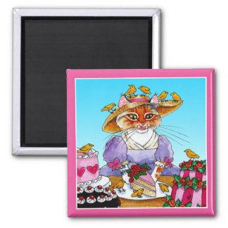 Imán divertido lindo de Marie Antonieta del gato