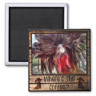Imán Donde está el café con el pollo polaco