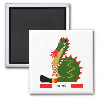 Imán Dragón verde de la ciudad Mons, Bélgica