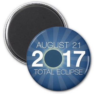 Imán Eclipse solar total 2017 - diseño azul