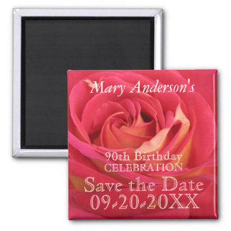 Imán El 90.o cumpleaños color de rosa celebra reserva