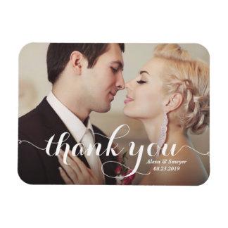 Imanes de agradecimiento de boda