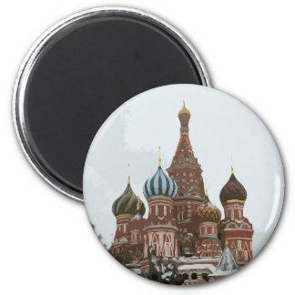 Imán El cathedral_russo de la albahaca del santo