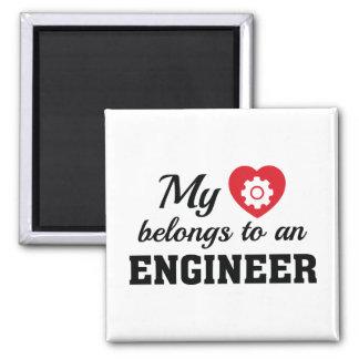 Imán El corazón pertenece ingeniero