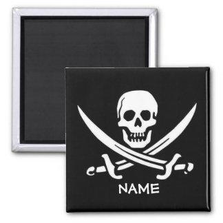 Imán El cráneo y las espadas del pirata añaden nombres