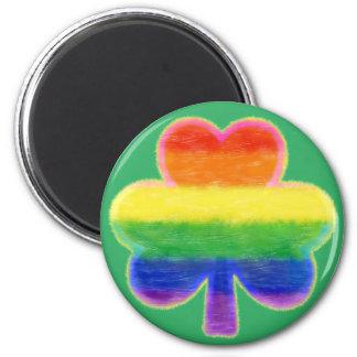 Imán El día de St Patrick del trébol del arco iris