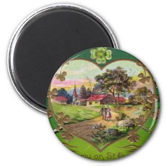 Imán El día de St Patrick retro del irlandés del