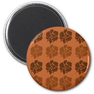 Imán El diseño florece marrón del ethno