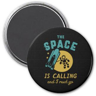Imán El espacio es llamando yo debe ir astronomía del