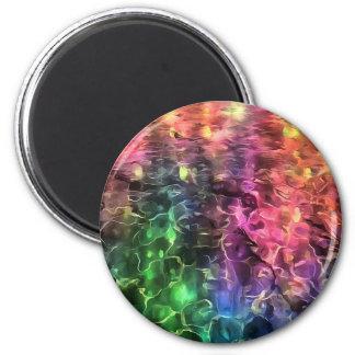 Imán El extremo del extracto del arco iris
