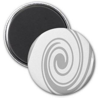 Imán El fluir espiral gris del modelo de izquierda a