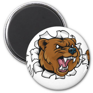 Imán El fondo enojado de la mascota del oso agarra