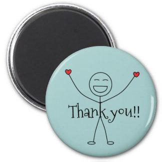 Imán El hombre feliz del palillo le agradece gratitud