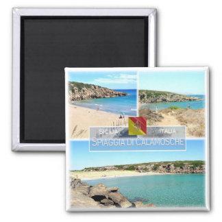 Imán ÉL Italia # Sicilia - playa de Calamosche -