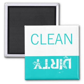Imán El lavaplatos limpio o sucio de los imanes
