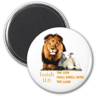 Imán El león y el 11:6 de Isaías del cordero