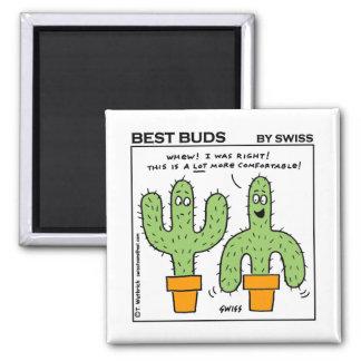 Imán El mejor dibujo animado de los brotes del cactus