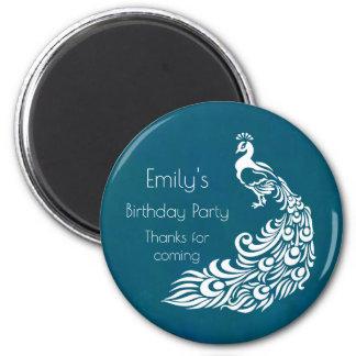 Imán El pavo real blanco en fiesta de cumpleaños del
