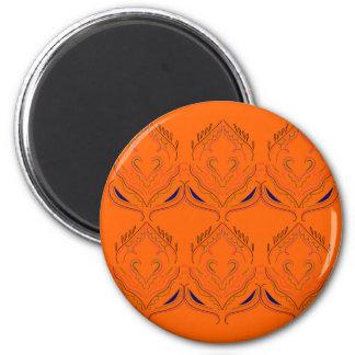 Imán Elementos del diseño anaranjados