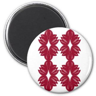 Imán Elementos del diseño rojos en blanco