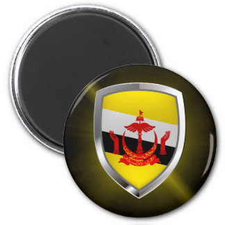 Imán Emblema metálico de Brunei