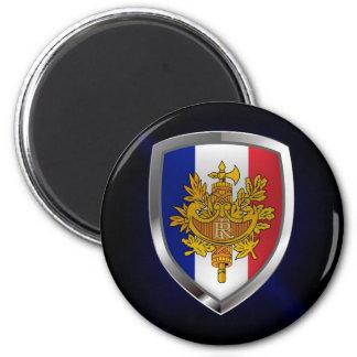 Imán Emblema metálico de Francia