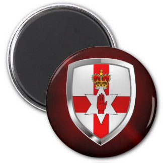 Imán Emblema metálico de Irlanda del Norte