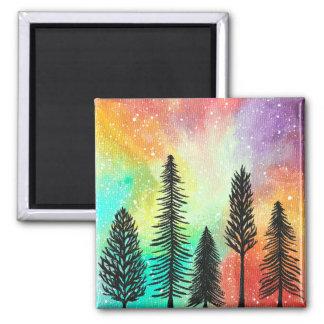 Imán en colores pastel de la galaxia del árbol de