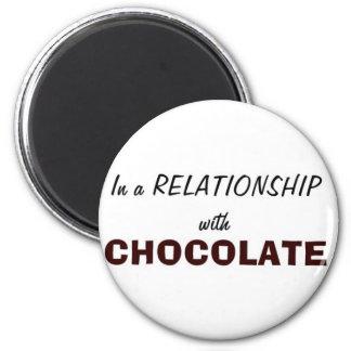 Imán En una relación con el chocolate