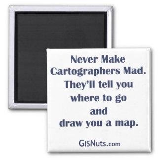 Imán enojado de los cartógrafos