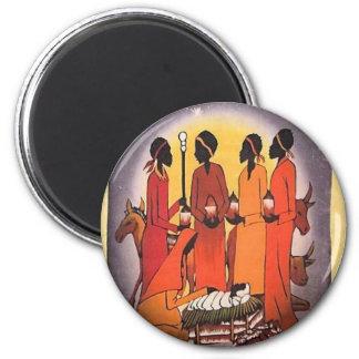 Imán Escena africana de la natividad del navidad