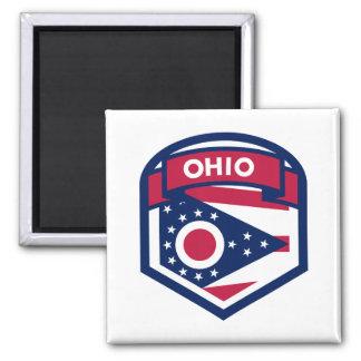 Imán Escudo de la bandera del estado de Ohio formado