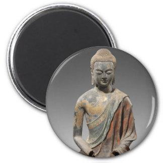 Imán Escultura decolorada de Buda - dinastía Tang (618)