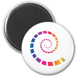 Imán Espiral multicolor
