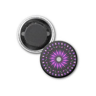 Imán espiral púrpura rosado negro cósmico de la