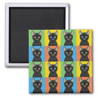 Imán Estallido-Arte del dibujo animado del gato de