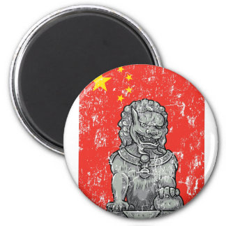 Imán estatua de los lomos de China del vintage