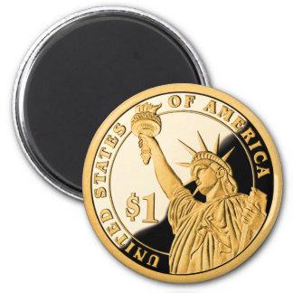 Imán Estatua de moneda de oro $1 de la libertad