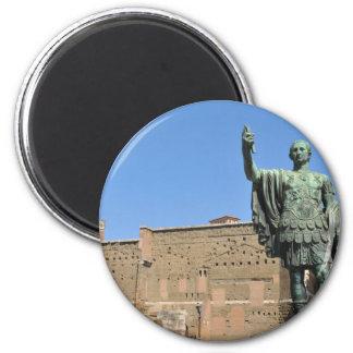 Imán Estatua de Trajan en Roma, Italia
