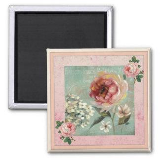 Imán Estilo rosado del vintage de Fleurs de las