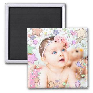 Imán estrellado de la foto del bebé