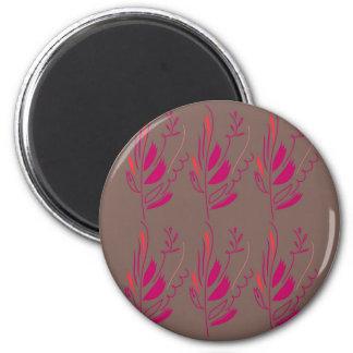 Imán Ethno rosado de los elementos del diseño