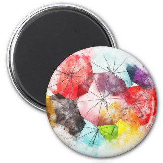 Imán Extracto colorido de los paraguas