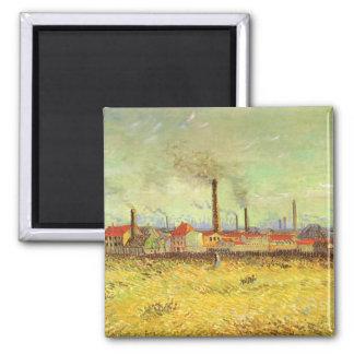 Imán Fábricas en Asnieres de Vincent van Gogh