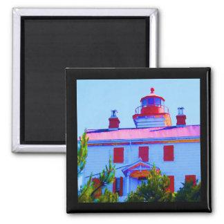 Imán Faro de Newport en la bahía de Yaquina