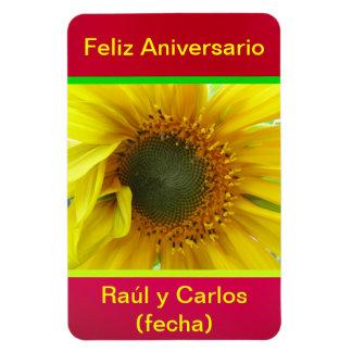 Imán Feliz Aniversario - Girasol Amarillo